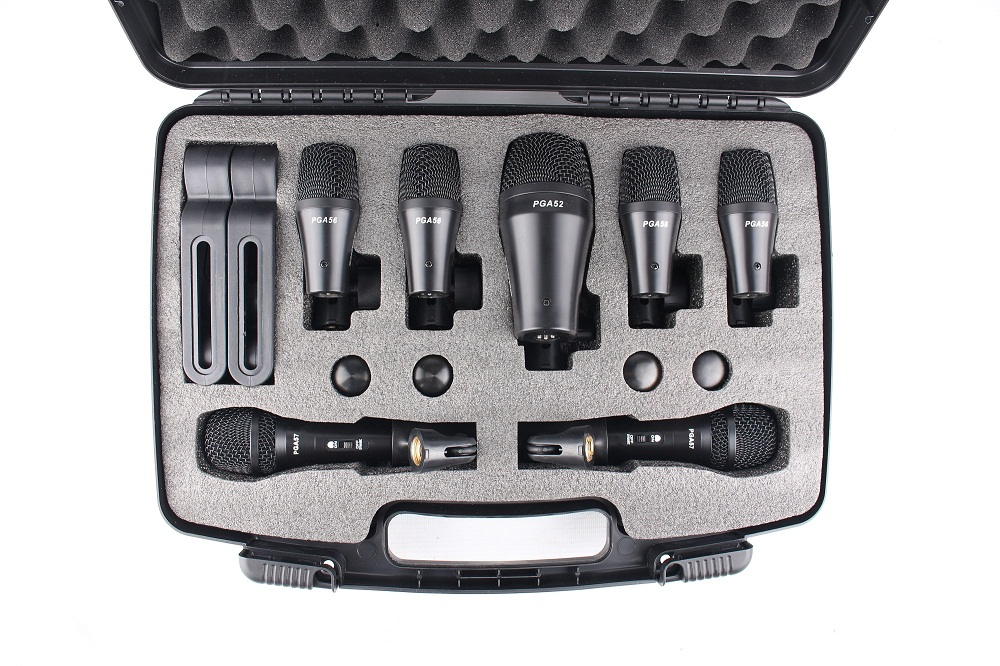 Drum microphone kit 7 pieces,musical instrument microphone