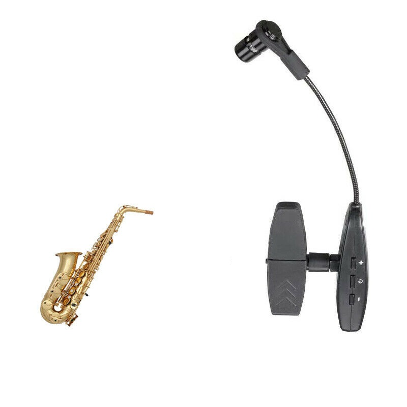 Dual saxophone wireless microphone