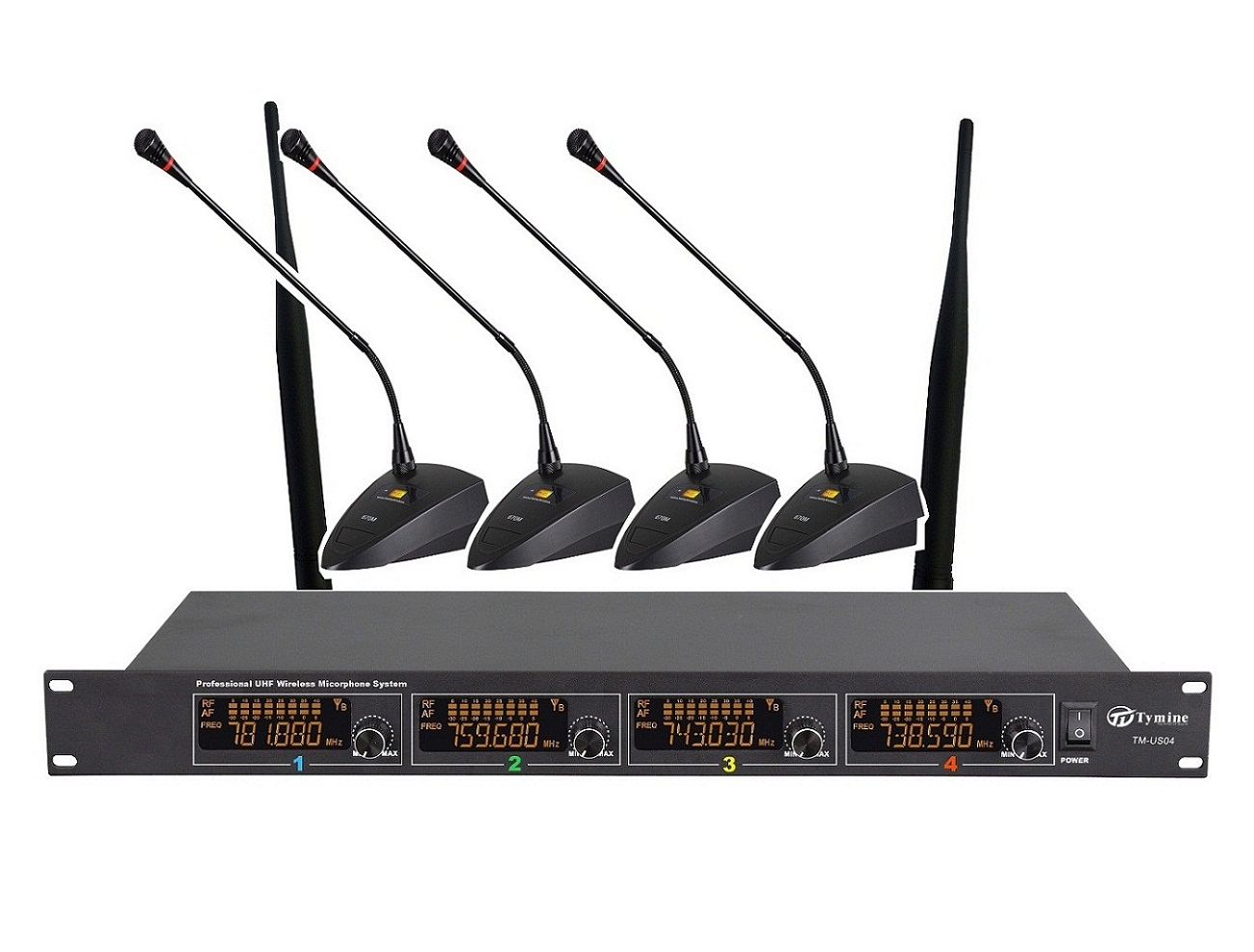 UHF Four Channel Conference wireless microphone